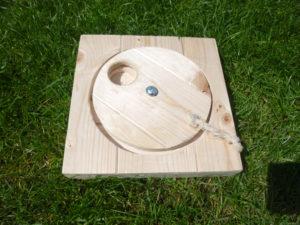 Dřevěná točna - hračka pro králíčky - promazliky.eu