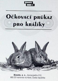 očkovací průkaz králíčka